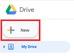 Google Drive New Button image.
