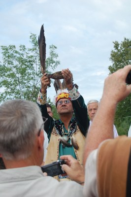 Ceremony - and Eagles - Mark Beginning of Veazie Dam Removal