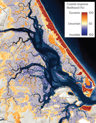 Up to 70 percent of Northeast coast has natural capacity to adapt to sea-level rise