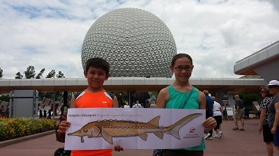Fish makes it to Epcot Center, Orlando Florida!