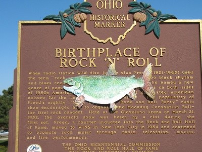 Lake trout rocks at Rock Hall near Lake Erie