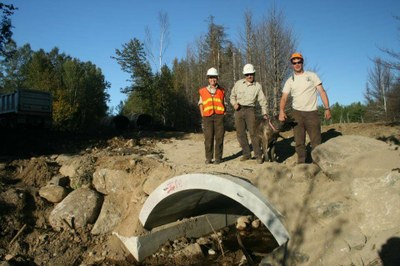 Partners Complete a Culvert Installation