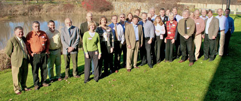 The North Atlantic LCC Steering Committee in Hadley, MA in 2009.