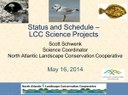 North Atlantic LCC Science Projects and Science Needs - May 2014